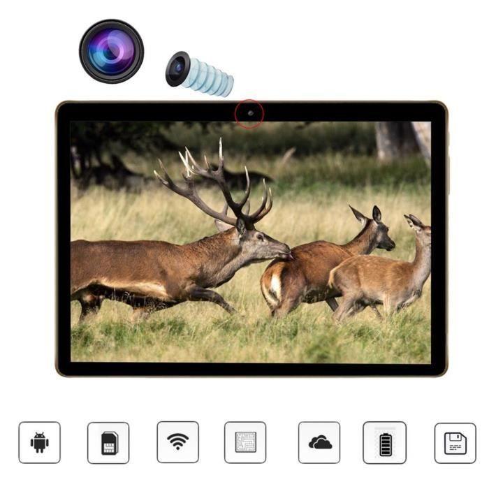 Tablette tactile 10.1'' Android Quad Core 2+64G Bluetooth 4.0 Noir