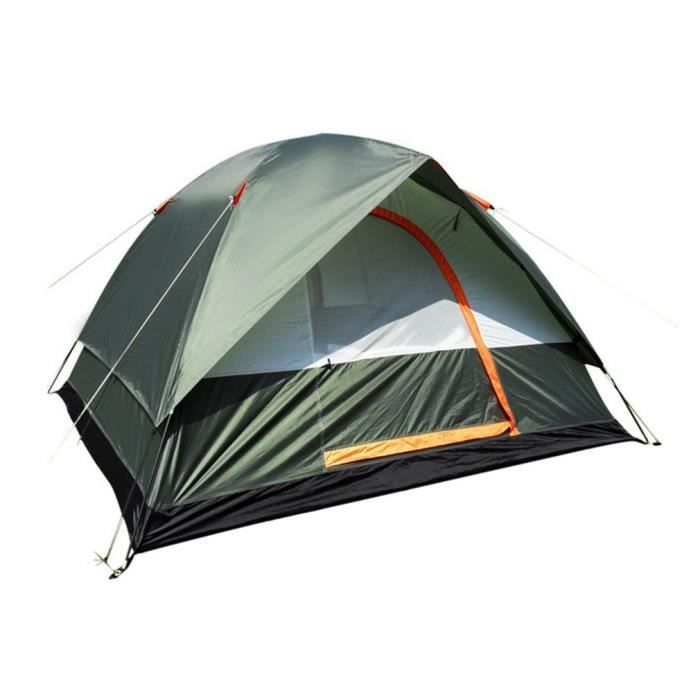 Imperméable à l'eau Camping Randonnée Polyester Oxford Tissu Double Couches Tente Portable 4 Personnes Voyage Escalade Tente