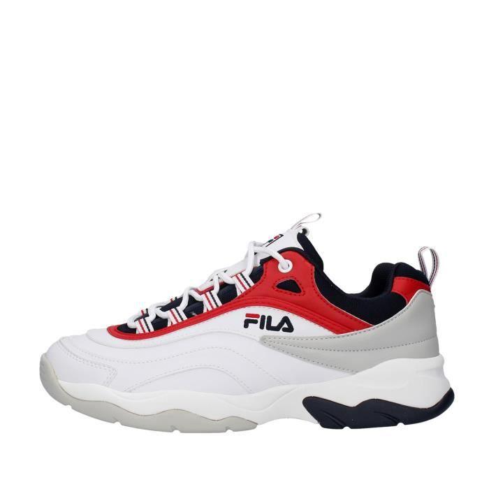 Fila 1010723 chaussures de tennis faible homme BLANC