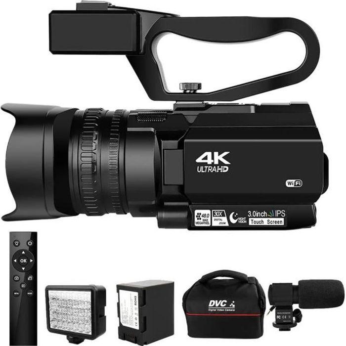 Caméscope 4K Ultra HD 48MP caméra vidéo pour YouTube en direct Streaming 30X Zoom numérique IR nuit KOMERY écran tactile