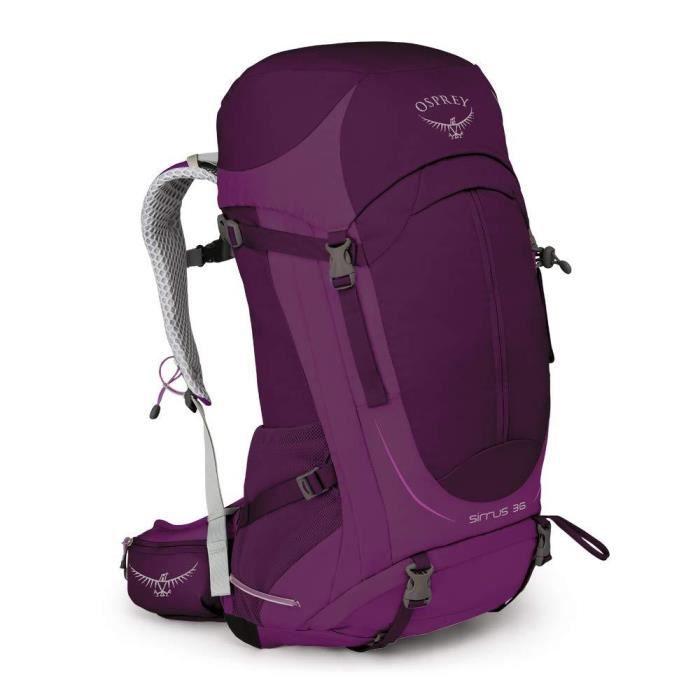 Osprey Sirrus 36 Women's Ventilated Hiking Pack - Ruska Purple (WS/WM)