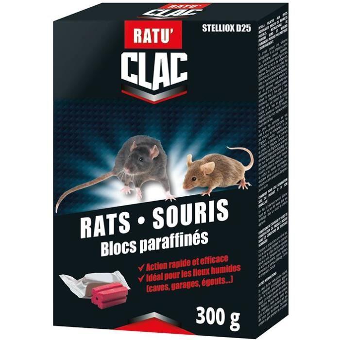 RATUCLAC Rat-souris bloc paraffinés - 300 g