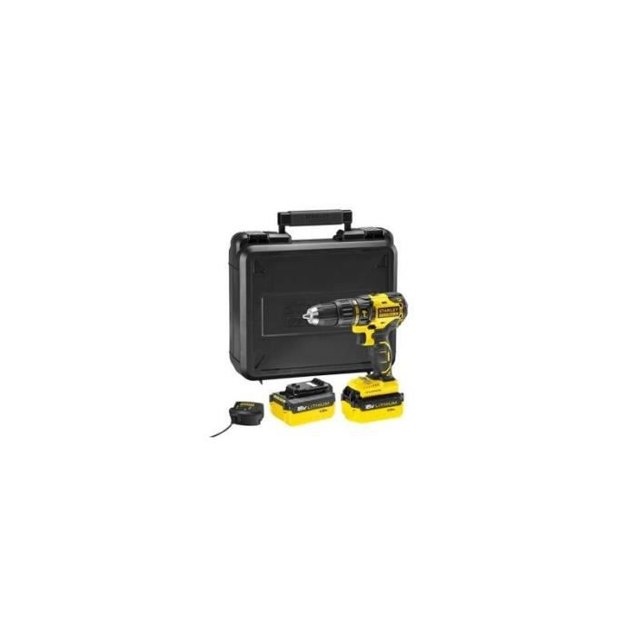 Stanley Perceuse à percussion sans fil brushless Fatmax MCD628M2K 18V 4x2Ah