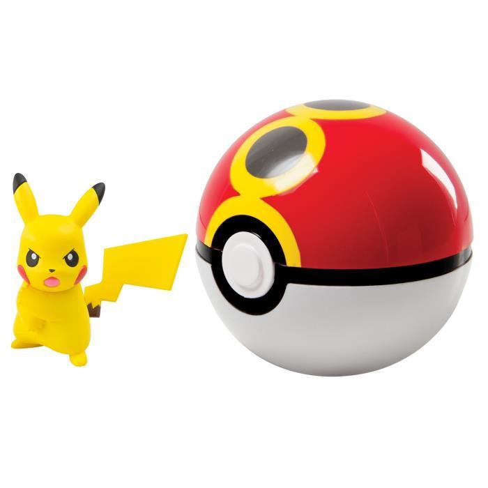 TOMY T19119 - Clip 'n' Carry Poké Ball - Coffret - Pikachu + Bis Ball