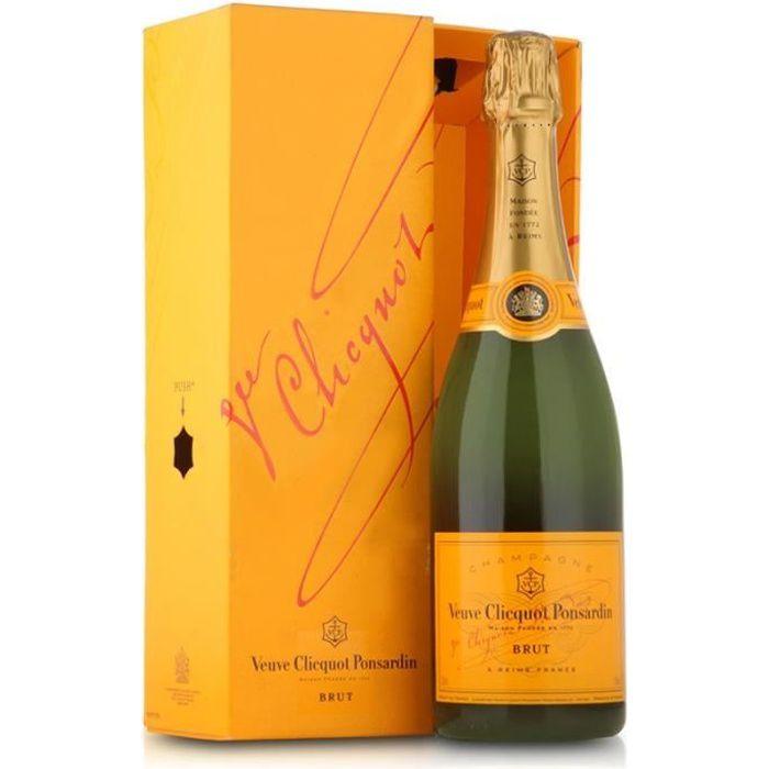 Champagne Veuve Clicquot Carte Jaune avec étui - 75 cl