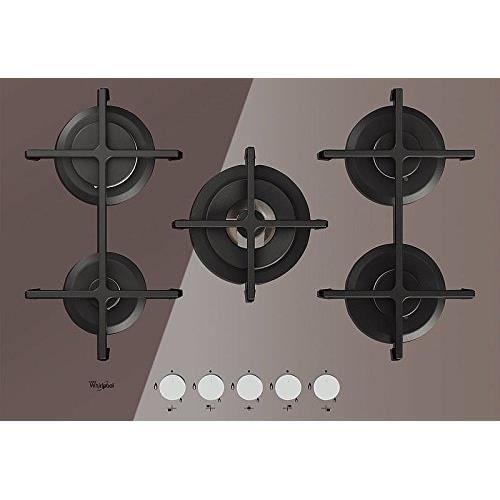 Whirlpool Goa 7523-S Plaque - Plaque (intégré, gaz, verre, rotatif, partie supérieure avant, 230 V) Argent