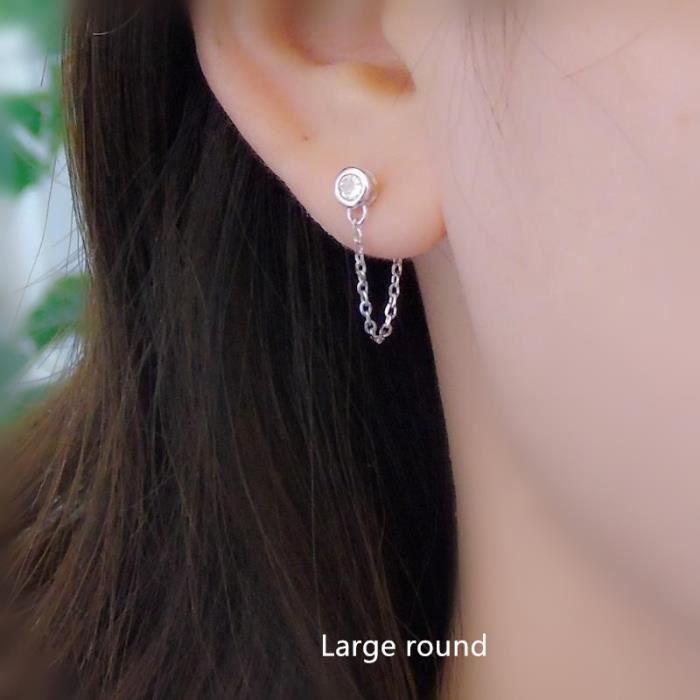 boucle d'oreille double trou
