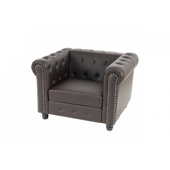 Fauteuil chesterfield brun achat vente fauteuil marron - Fauteuil chesterfield occasion ...