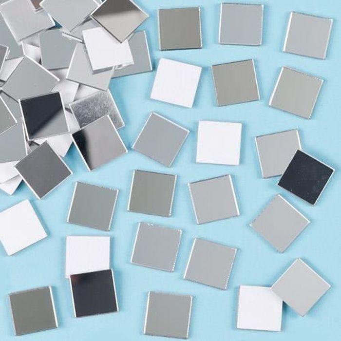 Lot De 100 Carreaux Miroirs Mosaïque Auto Adhésifs Idéal Pour La Décoration De Cadre Photo