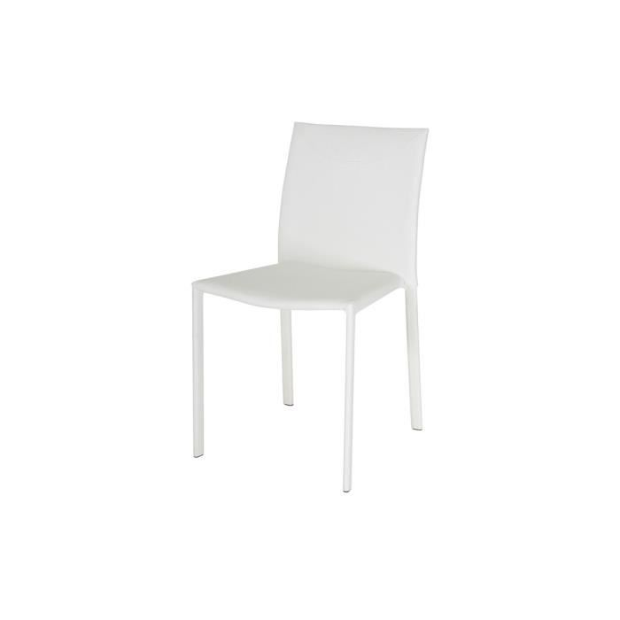 Lot de 4 chaises empilables blanches loan achat vente - Lot 4 chaises blanches ...