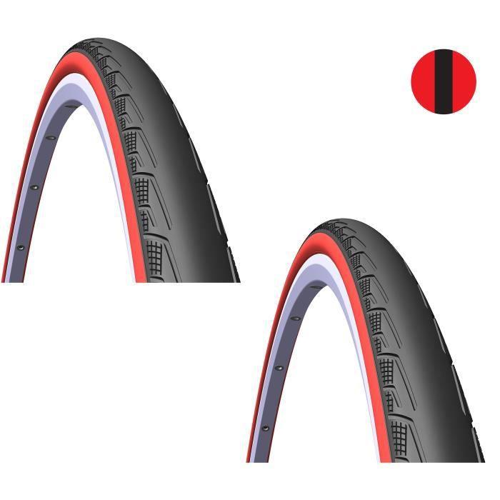 Michelin Pro 4 Service Course 700 x 23 C Pliable Pneu-Rouge 23-622