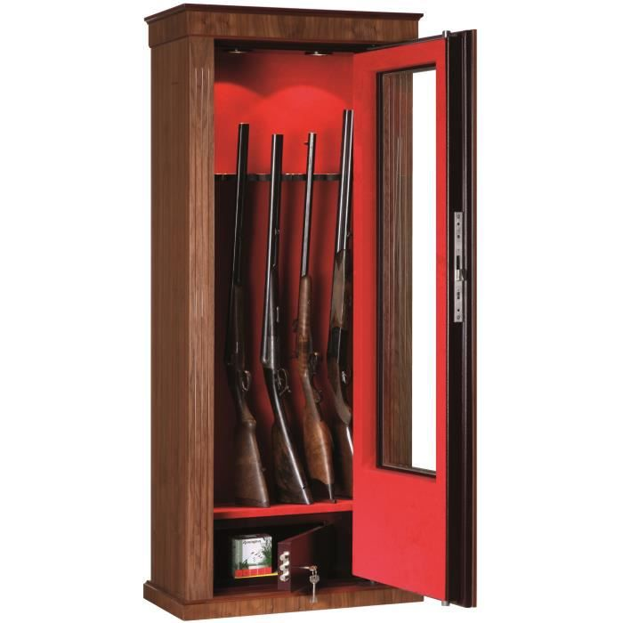 armoire fusils porte vitr e 6 11 armes bois ch ne. Black Bedroom Furniture Sets. Home Design Ideas