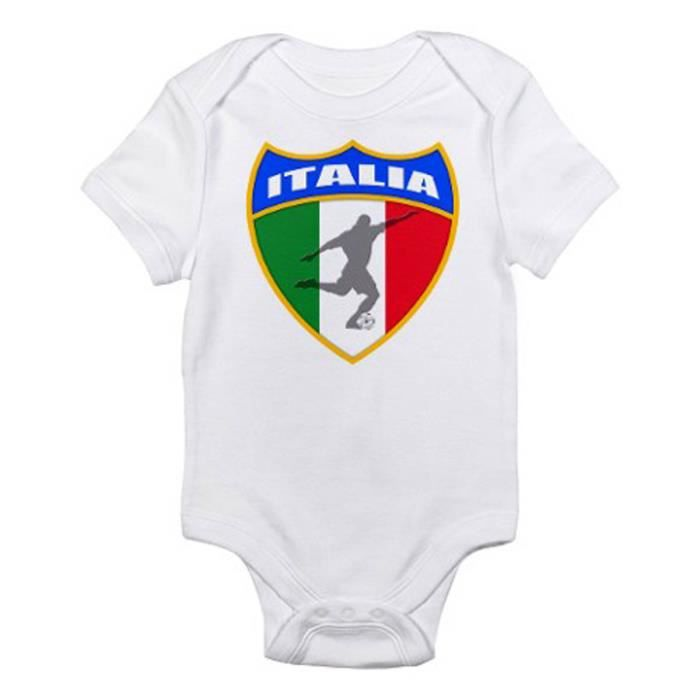 Body bebe tbaby0116 italian soccer infant bodysuit blanc for Bebe italia