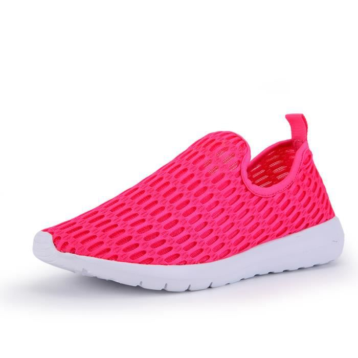 big sale 9e669 ff6cd Sport Femme rouge Casual rose Respirant Noir Baskets Chaussures Sneakers  blanc De YdxYw75