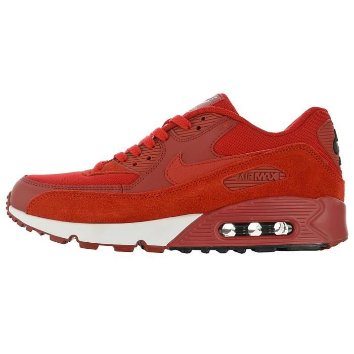 Baskets NIKEs AIRs Max 90 Homme Rouge Rouge - Cdiscount Chaussures