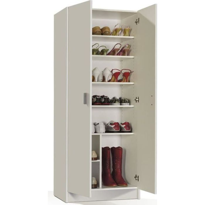 armoire chaussures 2 portes. Black Bedroom Furniture Sets. Home Design Ideas