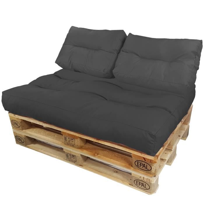 set de 3 pi ces coussins pour palette europe lounge de proheim 1x un coussin d 39 assise 2. Black Bedroom Furniture Sets. Home Design Ideas