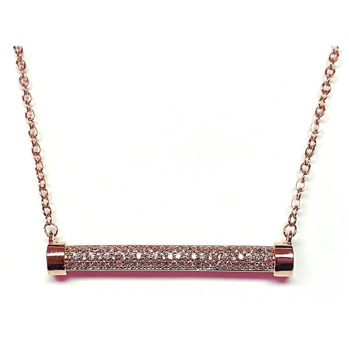 Elise M Lolo Rose Gold Chain Necklace WAGCV