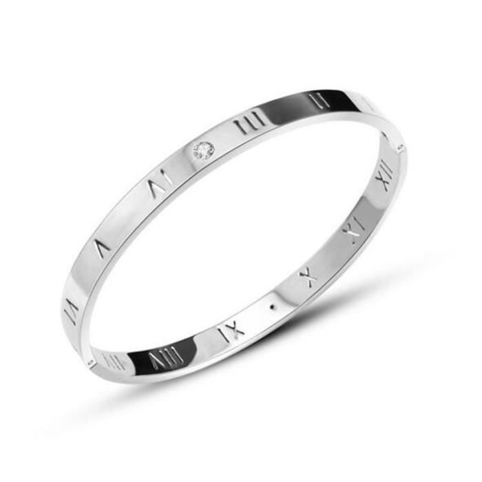 Bracelet Rome Diamond Fashion titanium stainless steel bracelets