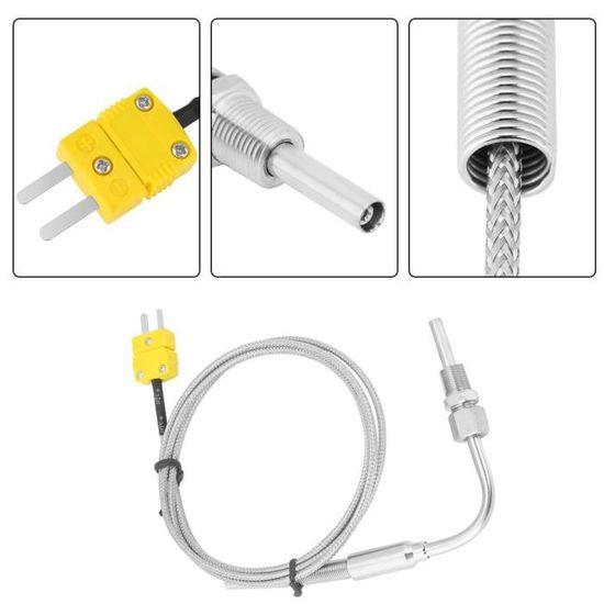 EGT Thermocouple K pour sonde de temp/érature de gaz d/échappement avec embout expos/é et connecteur 1//8 NPT 1 m