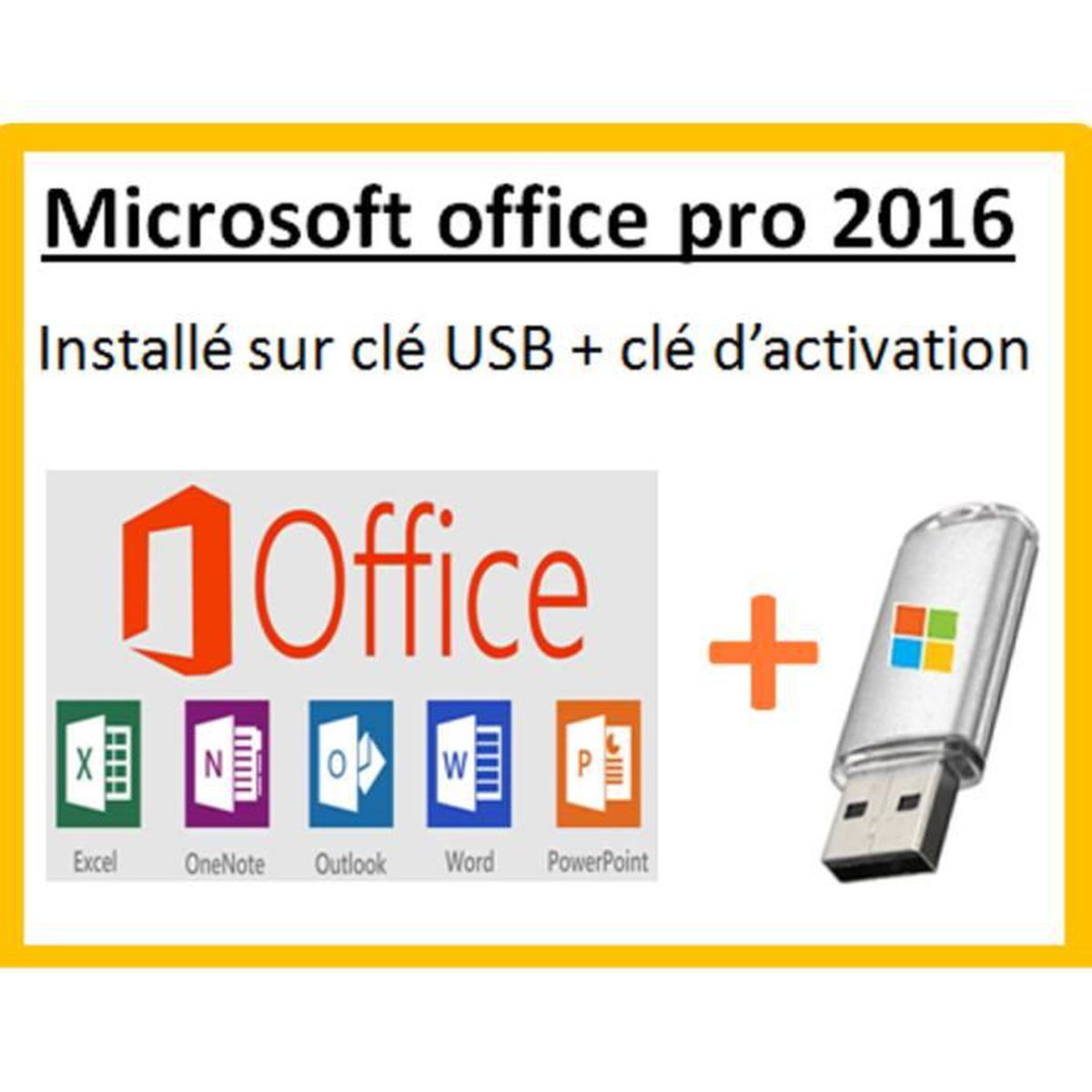 microsoft office 2016 sur cl usb prix pas cher cdiscount. Black Bedroom Furniture Sets. Home Design Ideas