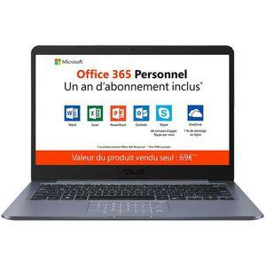 "PC Portable ASUS E406SA-BV233TS avec NumPad - Intel Celeron N3000 4 Go eMMC 64 Go 14"" LED HD Wi-Fi N/Bluetooth Webcam Windows 10 Famille en pas cher"