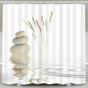 RIDEAU DE DOUCHE Rideau de douche Zen Stone Wild Herber Reflection