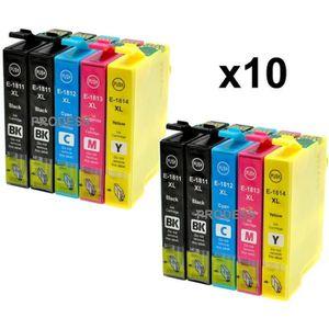 CARTOUCHE IMPRIMANTE Kit de 10 cartouches compatibles Epson 18 XL pour