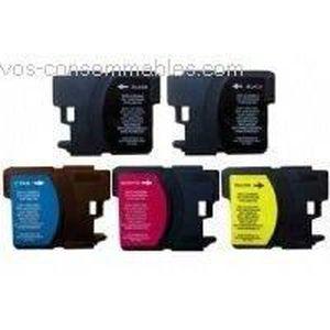 CARTOUCHE IMPRIMANTE 5 cartouches compatibles LC980 pour BROTHER DCP 19