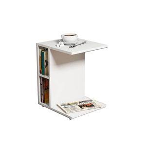 TABLE D'APPOINT Bout de canapé Ceylin - L. 45 x H. 57,5 cm - Blanc