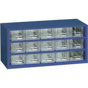 BOITE A COMPARTIMENT Armoire d'atelier 15 tiroirs bleu 306 x 147 x 1…