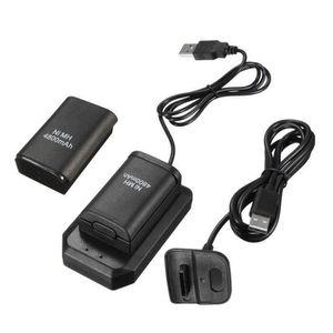 CHARGEUR CONSOLE USB Chargeur + 2 Batteries 4800mAh KIT pour Xbox 3