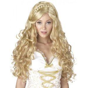 WIG ME UP /® 2191-ZA82A Perruque Moustache Carnaval Halloween Hommes boucl/é Blond ann/ées 70