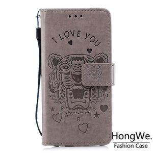 HOUSSE - ÉTUI Housse de Protection Huawei P20 Lite Tigre Gris Mo