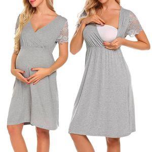 ROBE Femmes enceintes Soins infirmiers Nightgown grosse