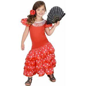 DÉGUISEMENT - PANOPLIE Déguisement Danseuse Flamenco Rouge à Pois Blanc F