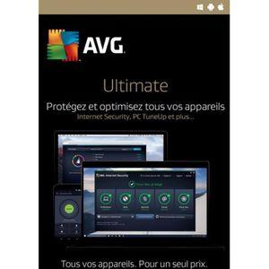 ANTIVIRUS AVG Ultimate 2020 Appareils illimités / 2 Ans / Ve
