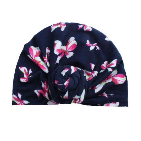 Bébé mignon nouveau-né enfants turban chapeau bonnet de coton bonnet chaud