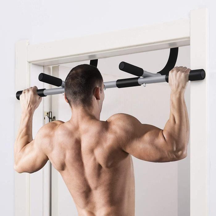 Barre de Traction, Fitness Fixation Murale Exercices avec Poignée Ergonomique,Charge Maximale:135 kg - poignées antidérapantes