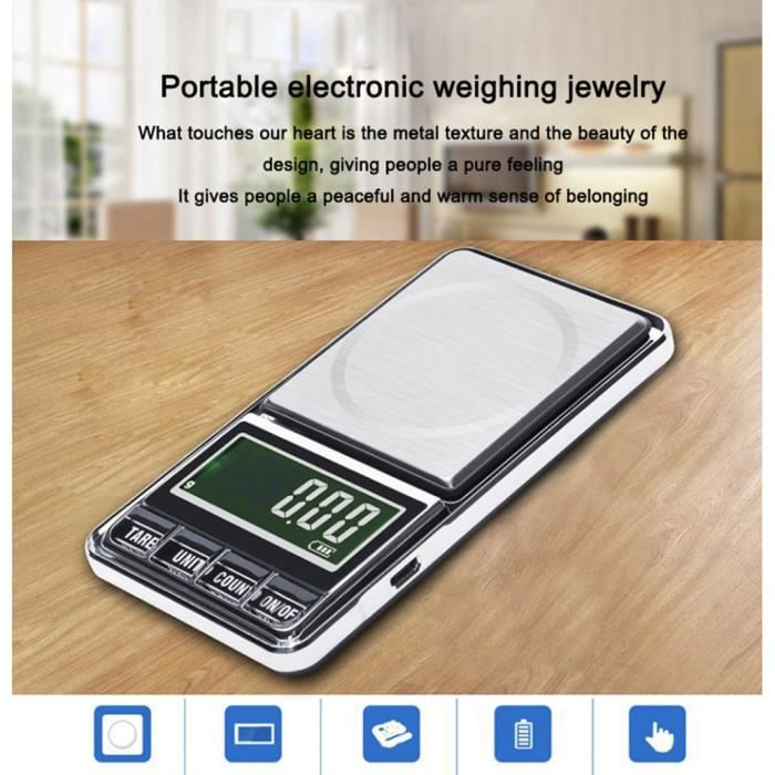 600g / 0.01g Balance de pesée électronique Mini balance Balance de poche Pesage portatif