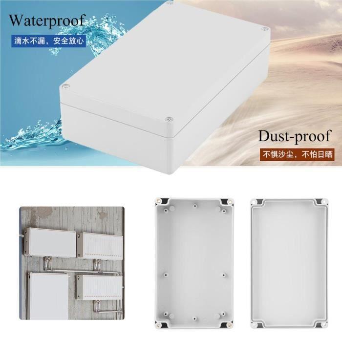Boite de dérivation étanche IP65 - 20 x 12 x 5,5 cm - Boîte de jonction de câblage de boîtier de projet ABS étanche à l'eau