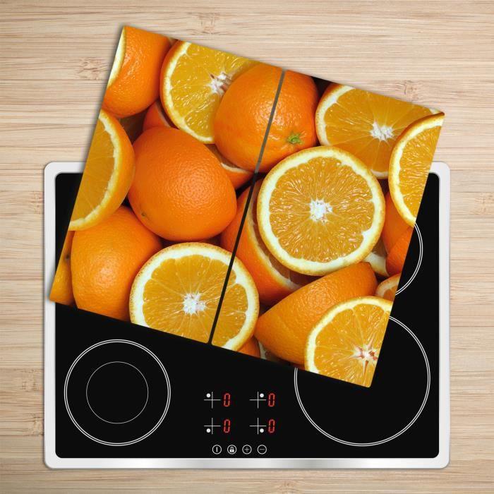 """Tulup Glass Planche à découper avec couvercle protecteur pour cuisine résistant chaleur 2x30x52 cm """"Citron Vert Avec De La Glace Mix"""