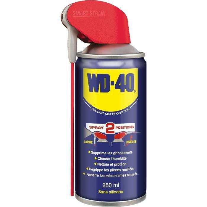 WD-40 Produit Multifonction Spray Double Position aérosol - 250 ml