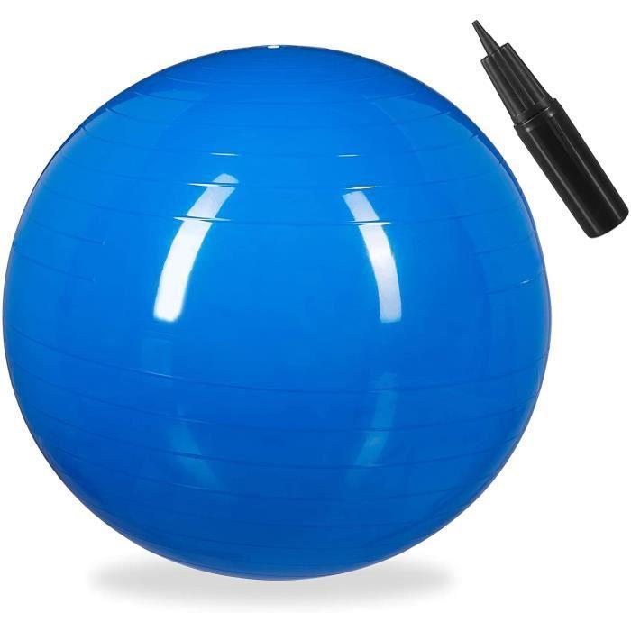 Balle de Gymnastique, Ballon de Fitness, Yoga Pilates, Bureau, Pompe à air inclue, Ø 85 cm, Choix de Couleur 93