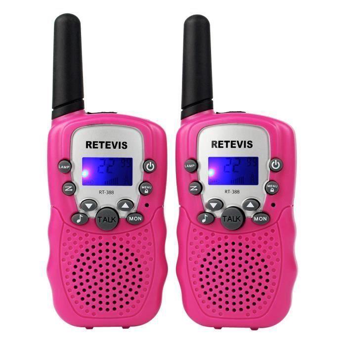 1 paire Talkie-walkie rechargeable 22 canaux pousser pour parler affichage à cristaux liquides Talkies-walkie radio 2 voies pour les