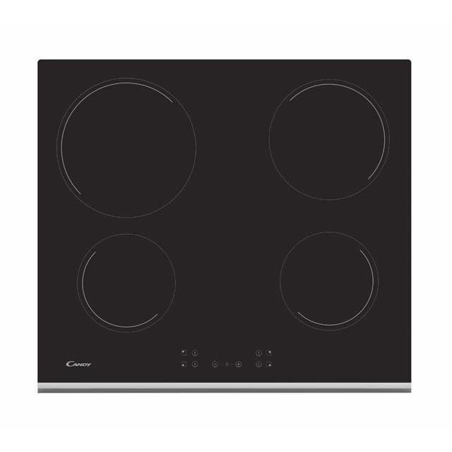 Candy CH64XB, Intégré, Plaque avec zone à induction, Verre-céramique, Noir, 1200 W, 1200 W