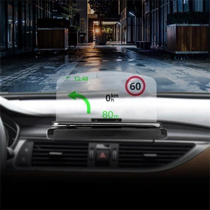 Téléphone portable Support voiture Pare-brise Projecteur HUD Head Up Display cinémomètre_w5374` A04064