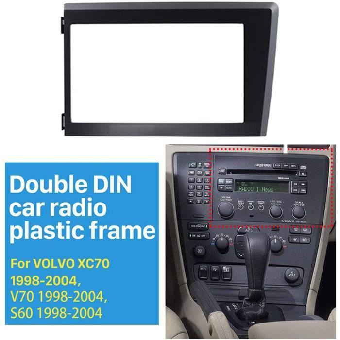 NBVNBV 2 Din Ca e CD pour Autoradio Fit pour Volvo XC70 V70 S60 1998-2004, Adaptateur Façade Ca e-Ca e De Radio Façade-Kit de M A34