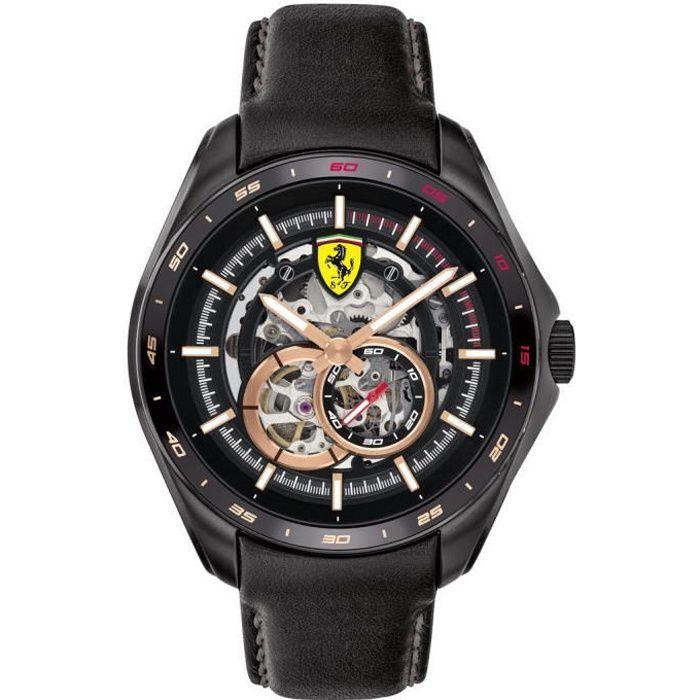 Ferrari-Montre Analogique pour Hommes à movement Automatique en Cuir - 0830688