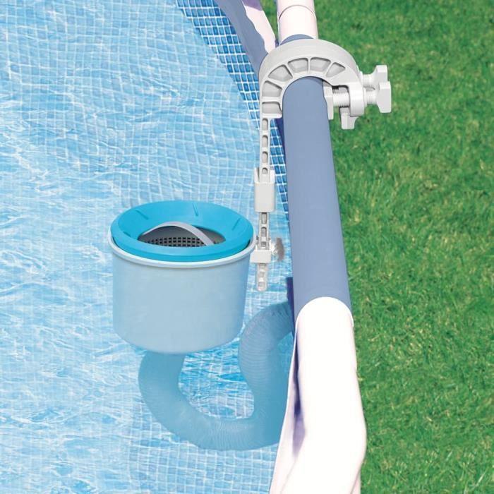 Intex skimmer de surface deluxe pour piscine autostable ou tubulaire